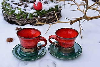 Nádoby - Vianočný čas (červeno-medeno-zelené) - 10212616_