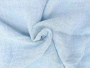 """Šály - """"baby-blue"""" bavlnený šál skladom:-) - 10214873_"""