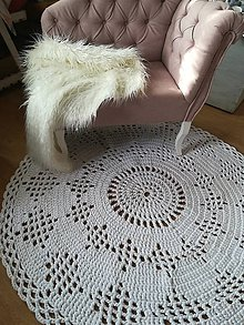Úžitkový textil - Hačkovaný koberec - 10215598_