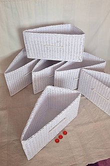 Košíky - Boxy atypické bez kosieľky WANDA /  ks - 10214026_