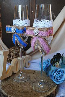 Nádoby - Svadobné poháre - 10218925_