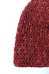 Čiapky - Háčkovaná čiapka melírová - 10219858_
