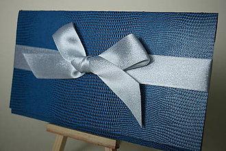 Papiernictvo - Obálka na peniaze/darčekové poukazy (Modrá) - 10218030_