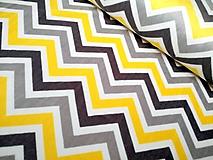 Textil - Shannon Minky Zig Zag Cuddle® Lemon/Silver/Charcoal - 10216998_