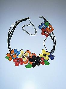 Náhrdelníky - lel,náhrdelník  flowers 78 - 10219363_