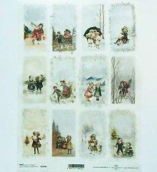 Nezaradené - Ryžový papier na decoupage -A4-R1496-Vianoce, retro, vintage - 10218471_