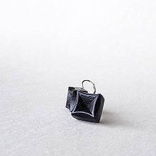 Náušnice - Wenge kocky - 10219138_