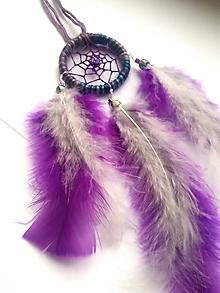 Dekorácie - Lapač snov  - fialový - 10217954_