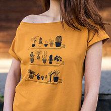 Tričká - Žluté tričko s krátkým rukávem Pokojovky - 10217415_