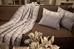 Úžitkový textil - Obývačkový set Deka a Vankúše, OEKO-TEX® (Šedá) - 10217227_