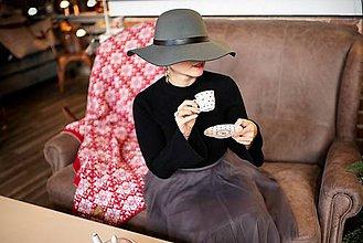 Úžitkový textil - Veľká pletená deka