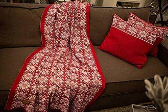 Úžitkový textil - Obývačkový set Deka a Vankúše, OEKO-TEX® (Červená) - 10217191_