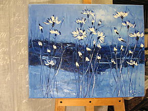 Obrazy - Parisien blue - 10219074_