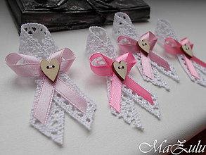 Pierka - vintage svadobné pierko v ružovom odtieni - 10218047_