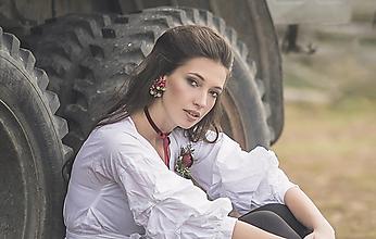 Náušnice - Kvetinové náušnice - 10219856_