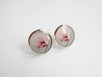 Náušnice - Živicové náušnice - Ružové makovienky - 10217739_