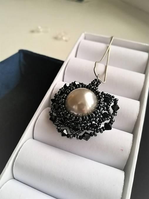 5f6c34b66 Swarovski náhrdelník - Black Pearl / Ju-ju - SAShE.sk - Handmade ...