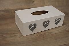 Krabičky - HM - Krabička na papierové vreckovky - podstava obdĺžnik - 10217887_
