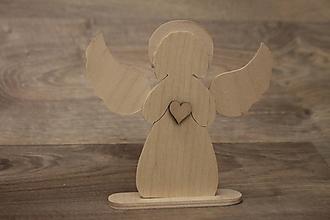 Dekorácie - Anjelik na podstavci - 10217306_