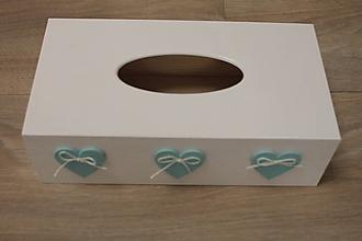 Krabičky - HM - Krabička na papierové vreckovky - podstava obdĺžnik - 10217814_