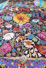 Šatky - V nočnej záhrade- hodvábna maľovaná šatka - 10218201_