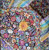Šatky - V nočnej záhrade- hodvábna maľovaná šatka - 10218209_