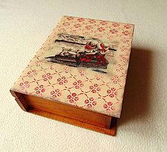 Krabičky - Drevená krabička Krásna spomienka - 10217322_