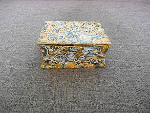 Krabičky - maľovaná kartónová šperkovnica - 10219978_