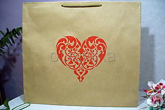 Iné tašky - darčeková eco taška Srdce - 10218188_
