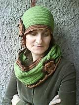 Čiapky - Romantický set v zelenom - 10219633_