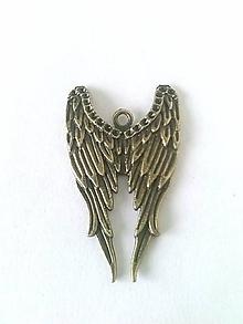 Komponenty - kovový komponent anjelské krídla - 10216760_