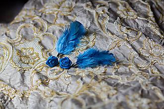 Náušnice - pierkové náušnice s kvety - 10219815_