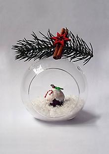 Náhrdelníky - Vianočný náhrdelník - Mafin   veľký - 10218642_