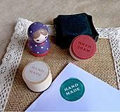 Pomôcky/Nástroje - PE101 Pečiatka okrúhla Handmade 3 cm - 10216884_
