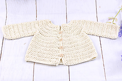 Detské oblečenie - Smotanový svetrík pre novorodenca EXTRA FINE - 10217870_
