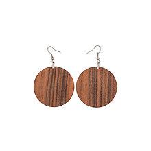 Náušnice - Náušnice z dreva - Palisander santos 2 - 10219592_
