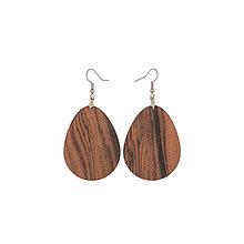 Náušnice - Náušnice z dreva - Palisander santos 3 - 10219612_