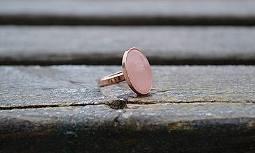 Prstene - Ruženín prsteň Ag 925 s Au - 10218091_