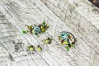 """Ozdoby do vlasov - Kvetinový setík """"lesná sviežosť"""" - 10216713_"""