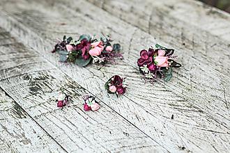 Ozdoby do vlasov - Kvetinový setík