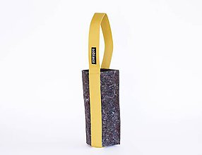 Iné tašky - Eko obal na fľašu žltý - 10217408_