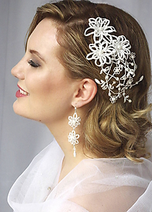 Náušnice - Svatební náušnice Debora - 10219351_