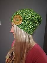 Čiapky - Čiapka zelena melirovana - 10218503_