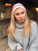 Ozdoby do vlasov - Termo čelenka biela folklór - 10216559_