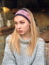 Ozdoby do vlasov - Termo čelenka čierna folklór - 10216560_