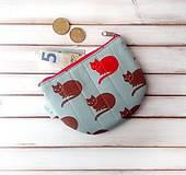 Peňaženky - Peňaženka Mačky (s koženkou) - 10217232_
