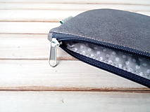 Peňaženky - Peňaženka Krížiky na šedej (s koženkou) - 10217249_