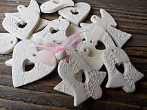 Dekorácie - Vianočné ozdoby čipkované 15ks - 10216898_