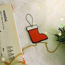 Dekorácie - ★ Vianočná ozdoba cartoon - čižmička - 10216738_