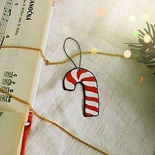 Dekorácie - ★ Vianočná ozdoba cartoon (vianočné lízatko) - 10216756_
